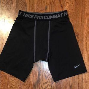 Nike Pro combat male kids compression shorts